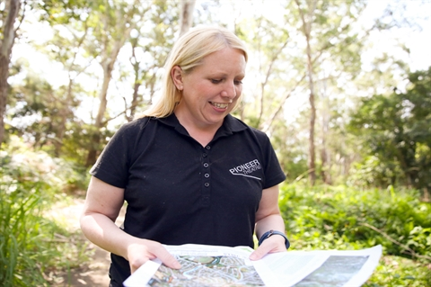 Mayor Byrne pictured at the Bushland Corridors Bushwalk in Rouse Hill.jpg