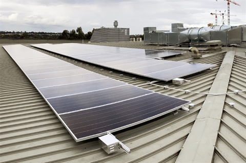 A section of the Vinegar Hill Memorial Library and Community Centre solar panel system.jpg