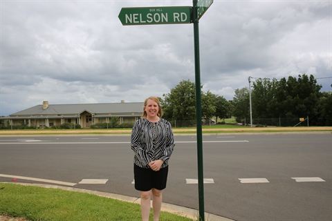 Mayor Byrne pictured at Nelson Road.JPG