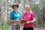 Jennifer Farrer from Boronia Tours pictured with Mayor Byrne at the Geebung Walk in Fred Caterson Reserve.jpg